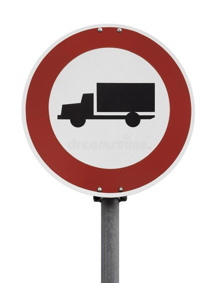 Nenhum sinal dos caminhões imagens de stock