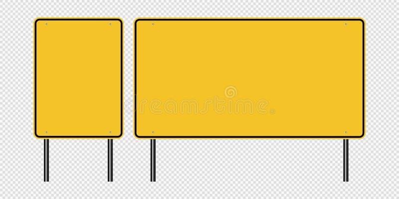 sinal de tráfego amarelo do símbolo, sinais da placa da estrada isolados no fundo transparente Ilustração Eps 10 do vetor ilustração royalty free