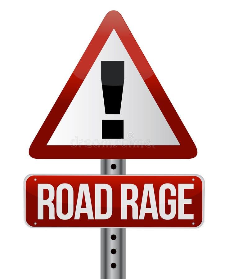 sinal de tráfego da estrada com uma raiva da estrada ilustração do vetor
