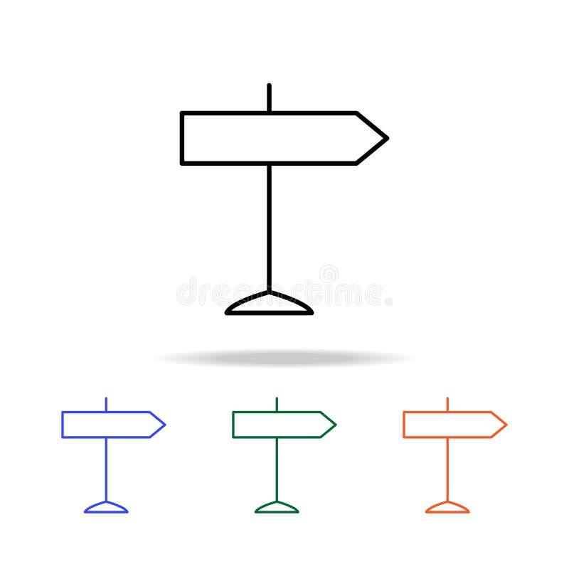 sinal de tráfego do ícone do sentido Elementos do ícone simples da Web na multi cor Ícone superior do projeto gráfico da qualidad ilustração stock