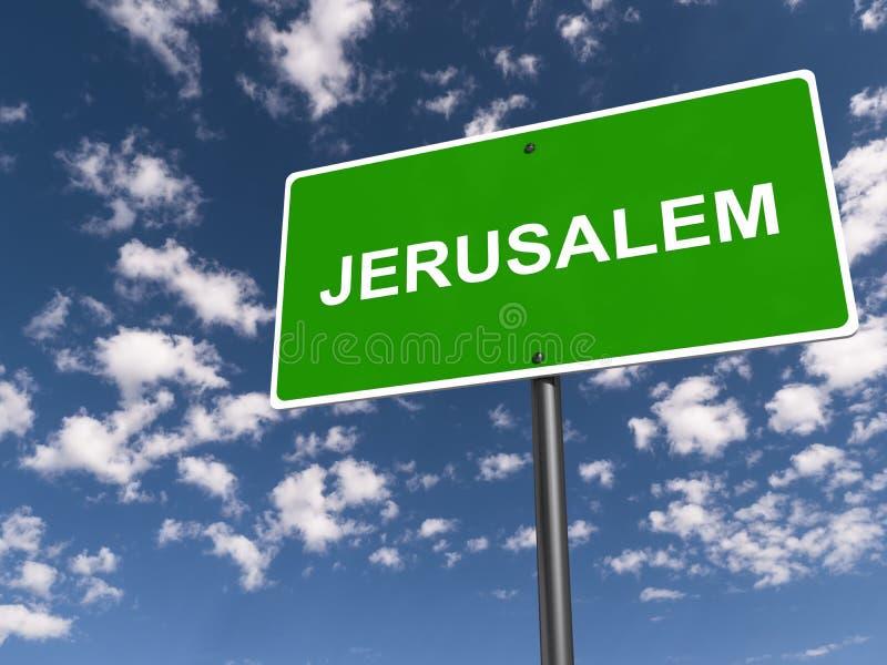 Sinal de tráfego do Jerusalém imagem de stock