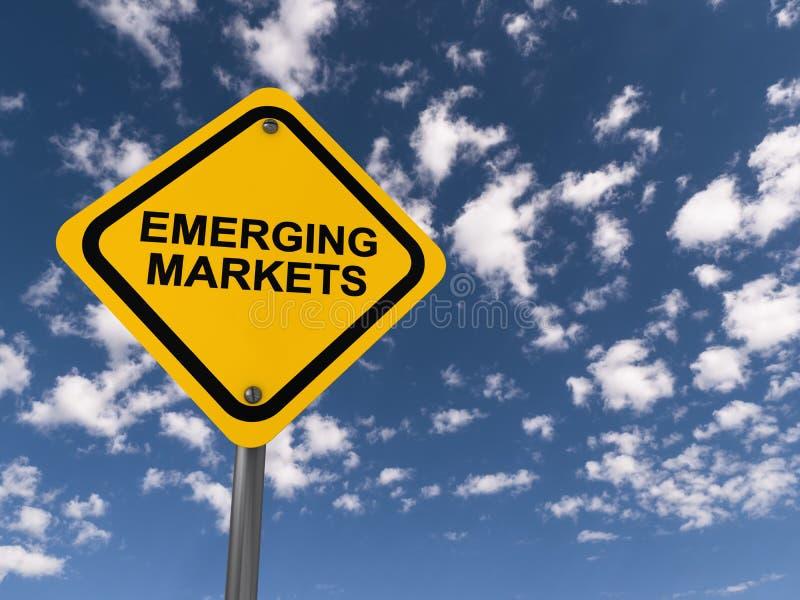 Sinal de tráfego dos mercados emergentes foto de stock royalty free