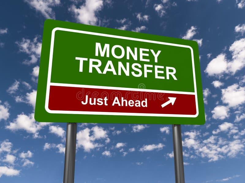 Sinal de transferência de dinheiro ilustração do vetor