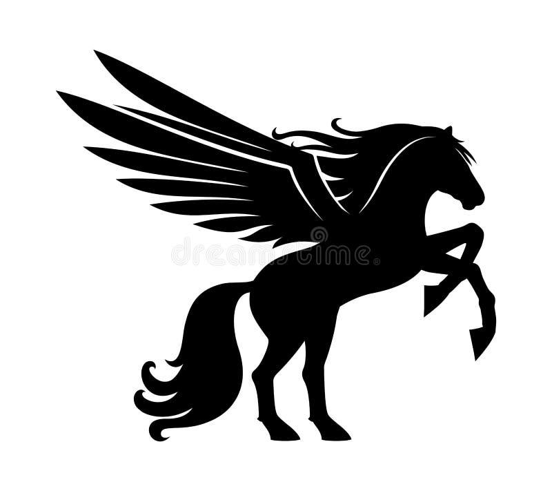 Sinal de um pegasus preto ilustração do vetor
