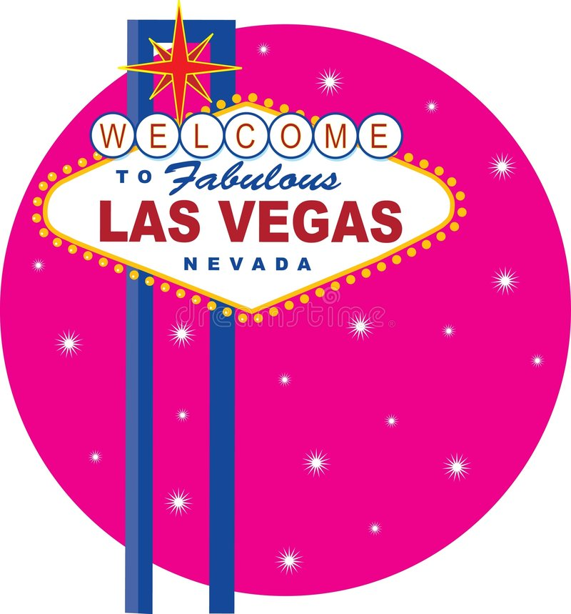 Sinal de Vegas ilustração do vetor