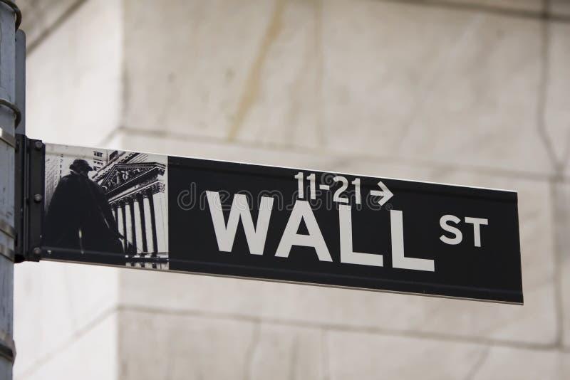 Sinal de Wall Street foto de stock