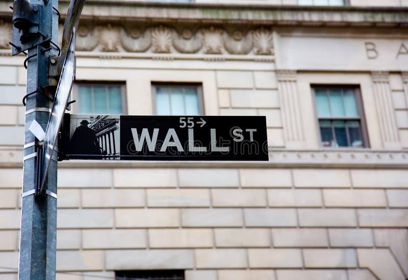 Sinal de Wall Street imagens de stock royalty free