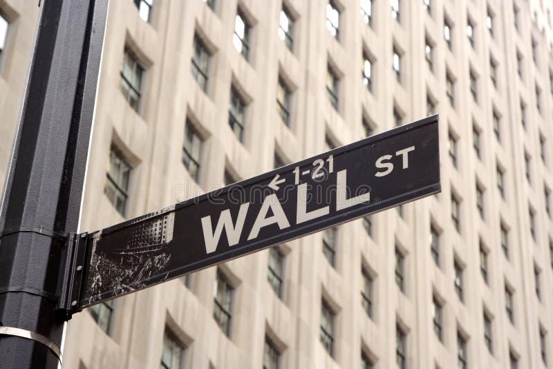 Sinal de Wall Street imagem de stock