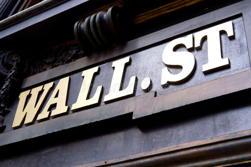 Sinal de Wall Street, New York foto de stock