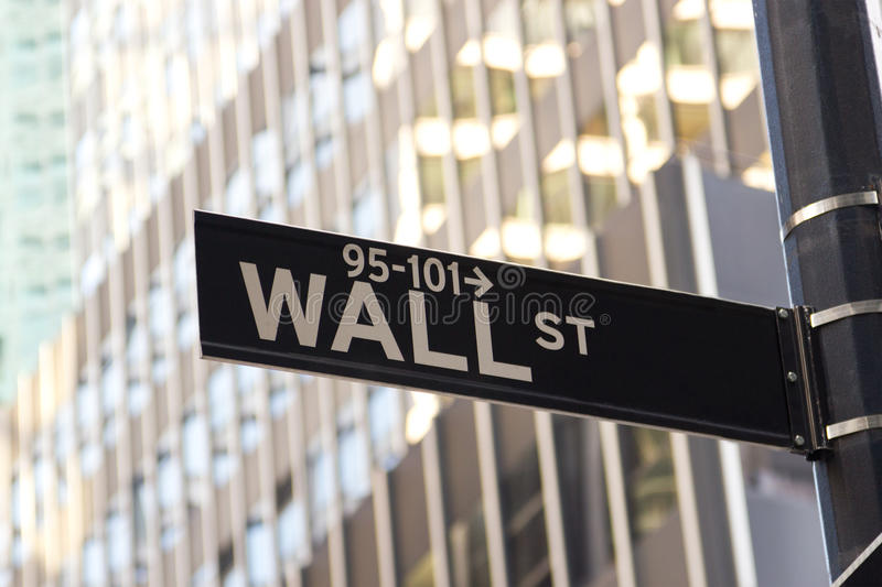 Sinal de Wall Street, New York foto de stock royalty free