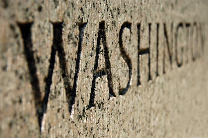 Sinal de Washington no memorial da segunda guerra mundial na C.C. fotos de stock