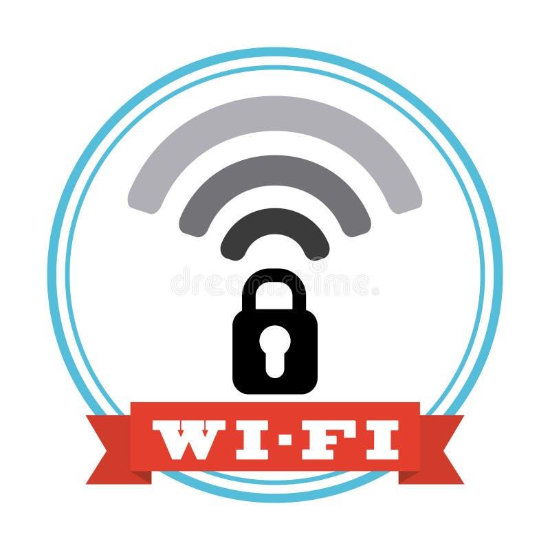Sinal de Wifi ilustração do vetor