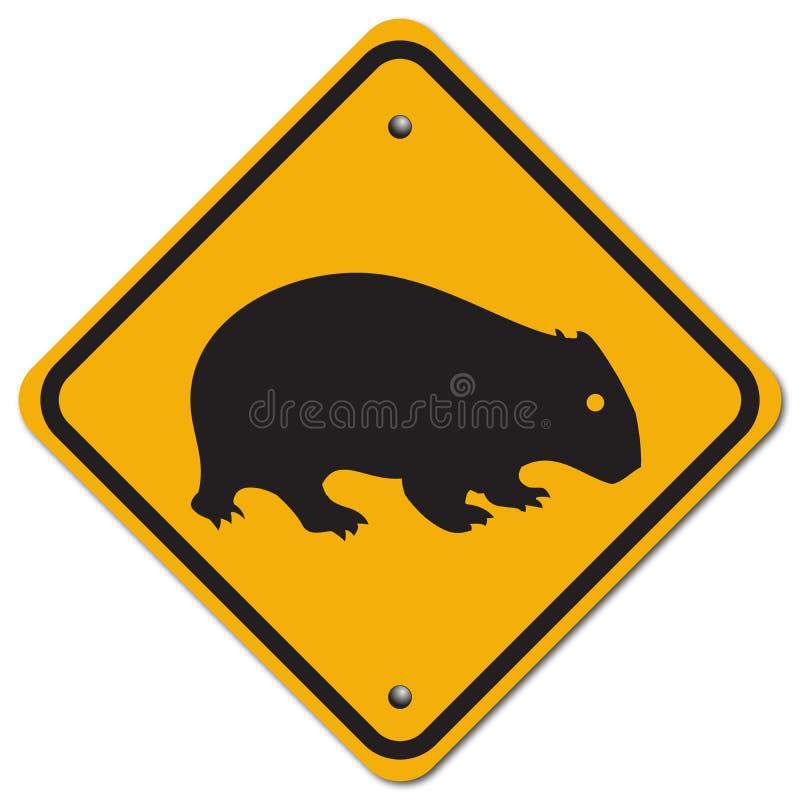 Sinal de Wombat ilustração stock