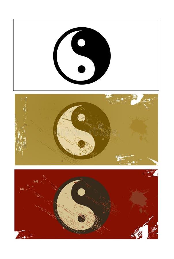 Sinal de Yin e de Yang ilustração stock