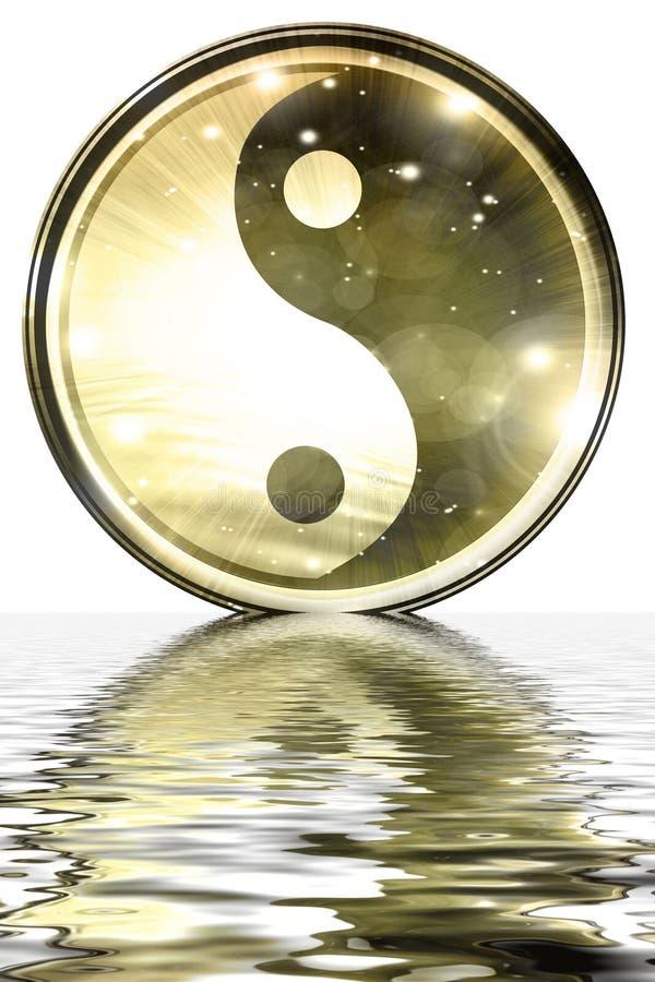 Sinal de Yin Yang ilustração do vetor