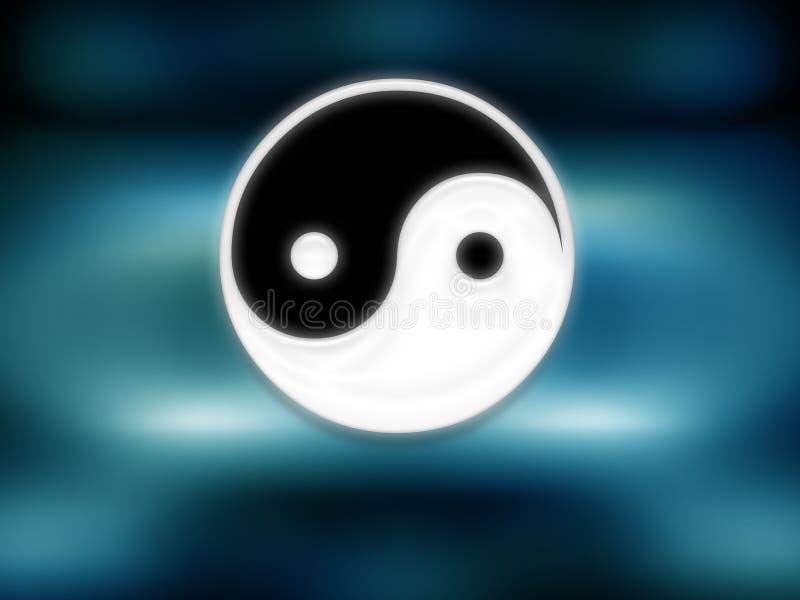 Sinal de Yin yang ilustração royalty free