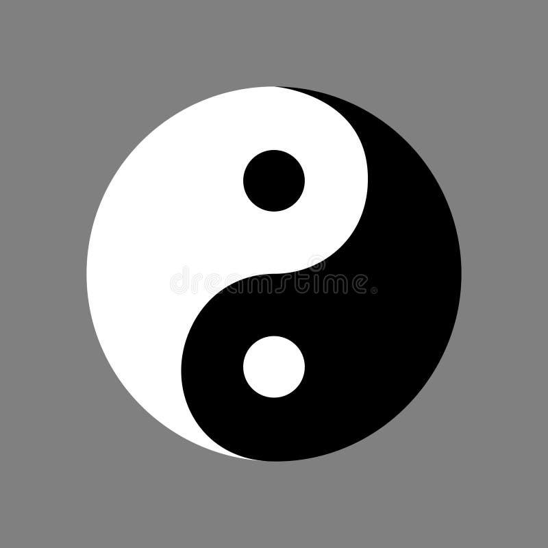 Sinal de Yin Yang da filosofia chinesa antiga ilustração stock