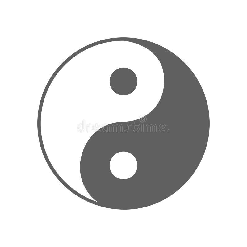 Sinal de Yin Yang da filosofia chinesa antiga ilustração royalty free