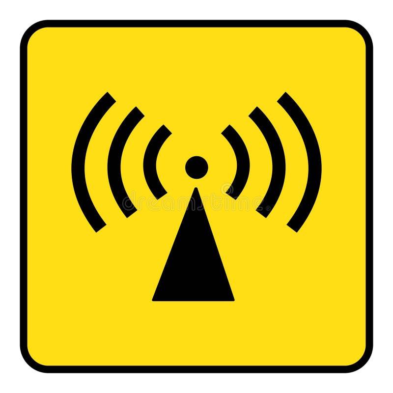 sinal deioniza??o da radia??o ilustração do vetor