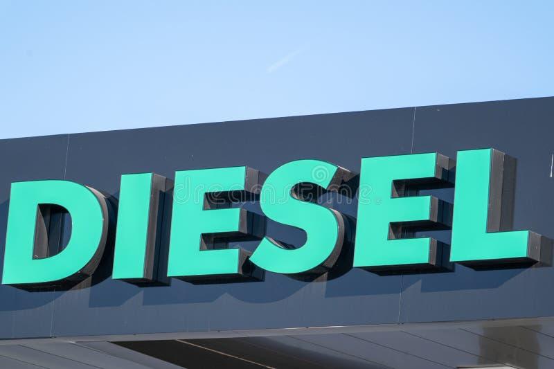 Sinal diesel genérico do gás fora imagem de stock royalty free