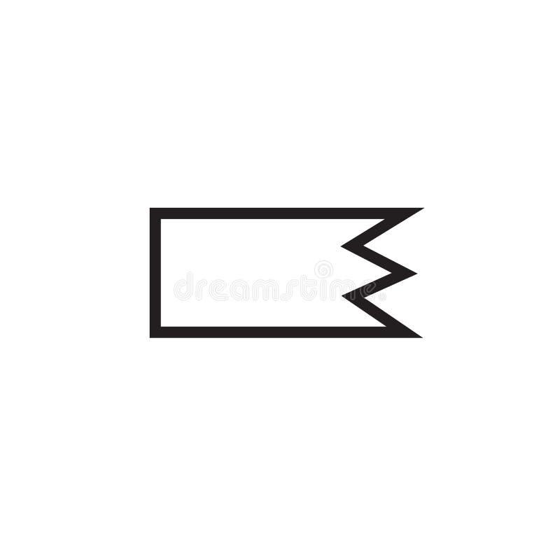 Sinal direito e símbolo do vetor do ícone do sinal isolados no fundo branco, conceito direito do logotipo do sinal ilustração royalty free