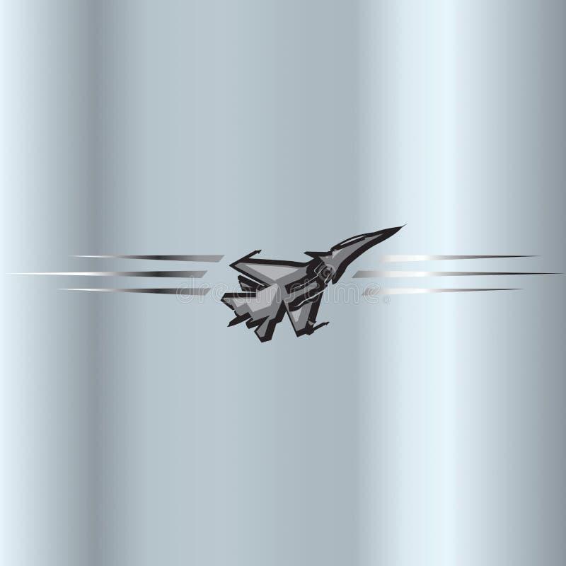 Sinal do ícone do avião de combate do jato ilustração royalty free