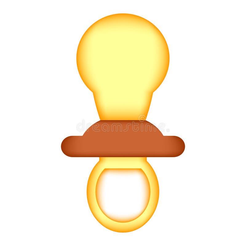 Sinal do ícone da chupeta do bebê ilustração do vetor