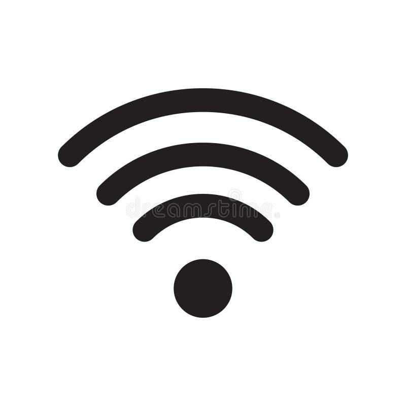 Sinal do ícone do rádio e do wifi ou do ícone de Wi-Fi para o acesso à internet remoto ilustração do vetor