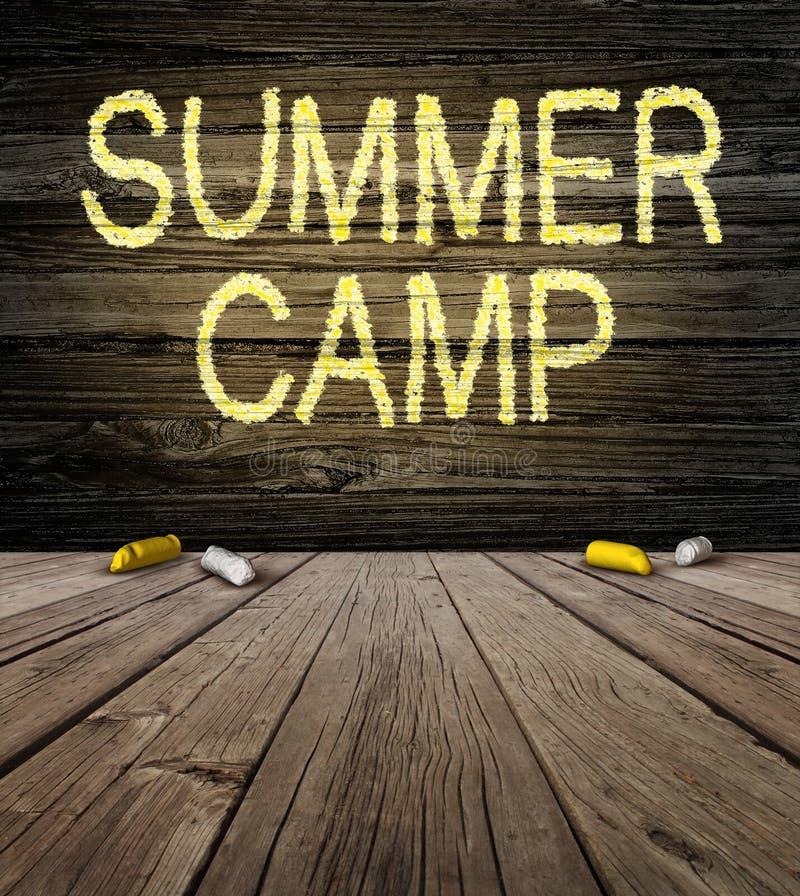 Sinal do acampamento de verão ilustração stock