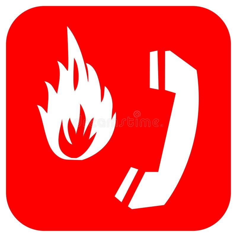 Sinal do alarme de incêndio ilustração royalty free