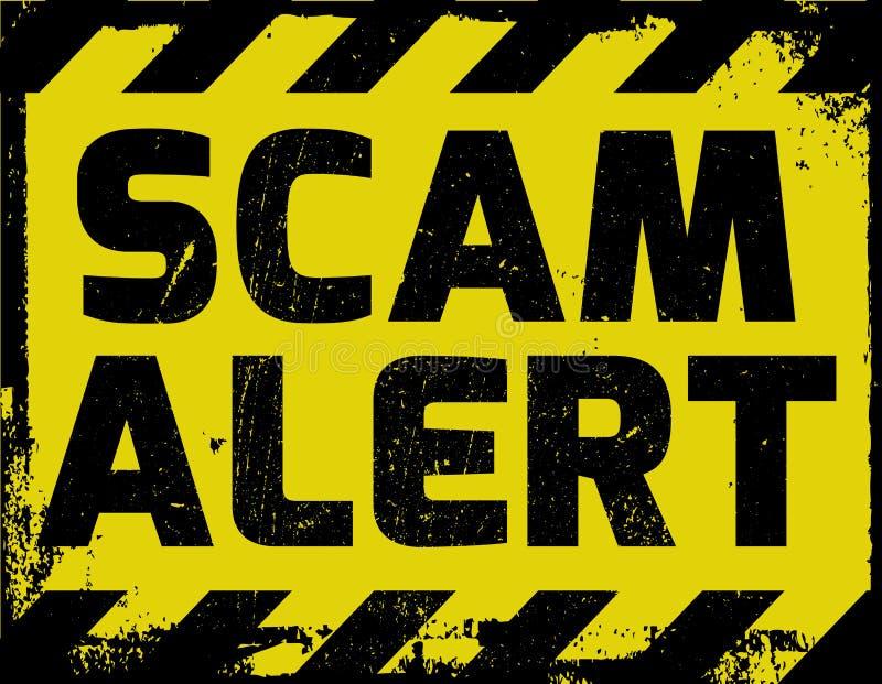 Sinal do alerta de Scam ilustração royalty free