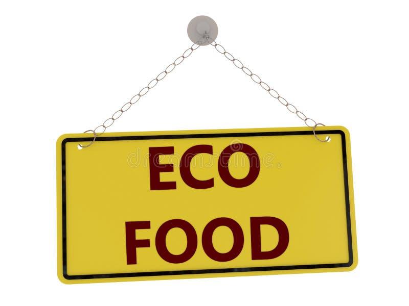 Sinal do alimento de Eco ilustração do vetor