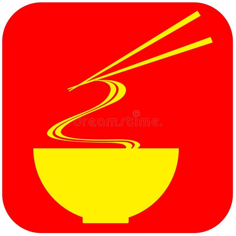 Sinal do alimento do macarronete ilustração royalty free