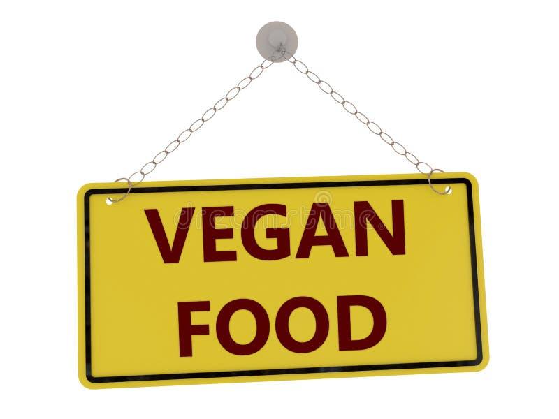 Sinal do alimento do vegetariano ilustração royalty free