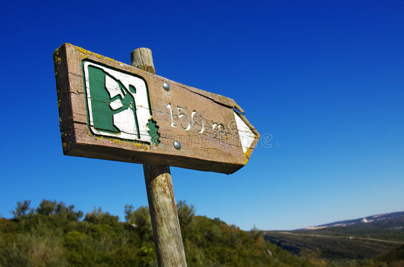 Sinal do Alpinism foto de stock