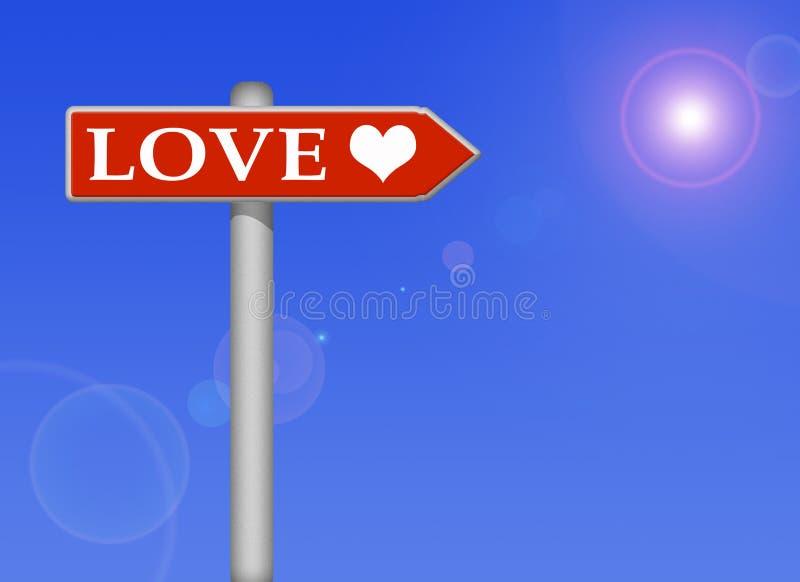 Sinal do amor ilustração do vetor