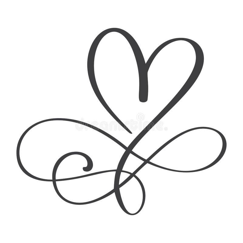 Sinal do amor do coração para sempre O símbolo romântico da infinidade ligado, junta-se, paixão e casamento Molde para a camisa d ilustração royalty free