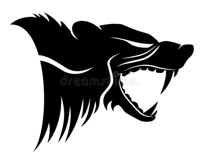 Sinal do animal de Wolverine ilustração do vetor