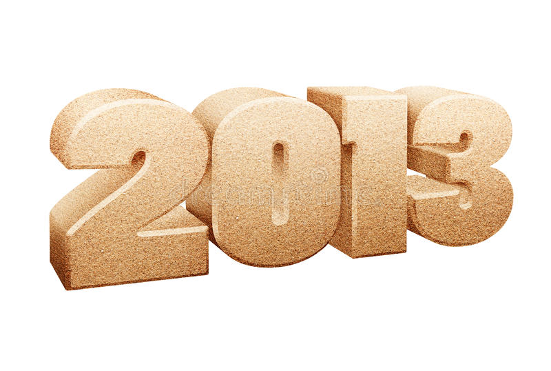 Sinal do ano 2013 imagem de stock