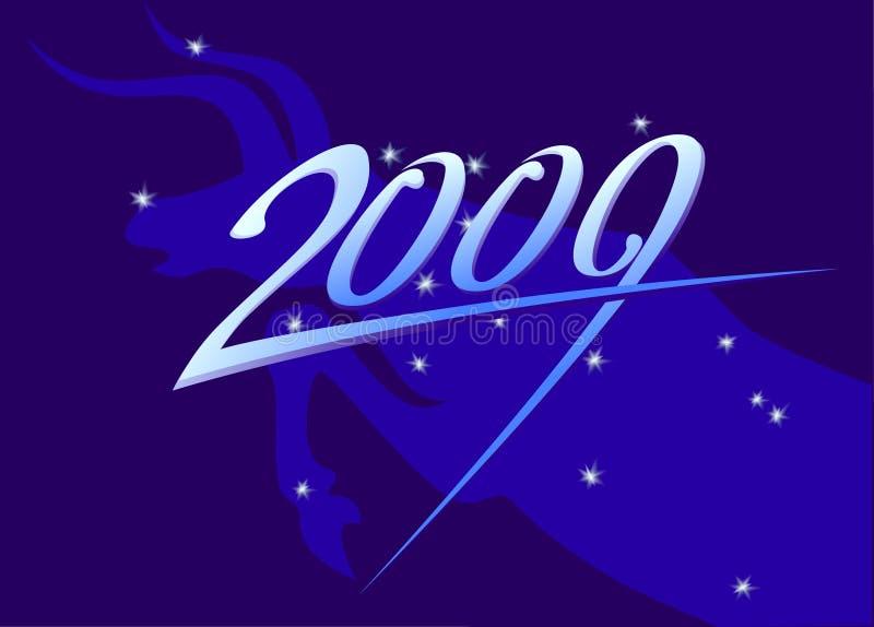 Sinal do ano novo 2009 ilustração royalty free