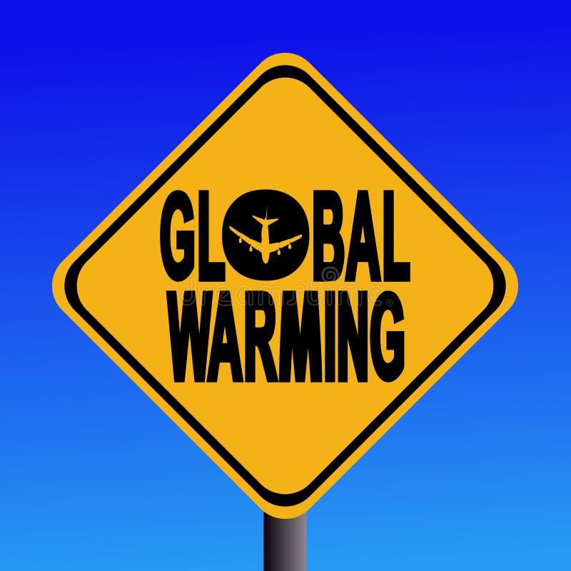 Sinal do aquecimento global ilustração do vetor