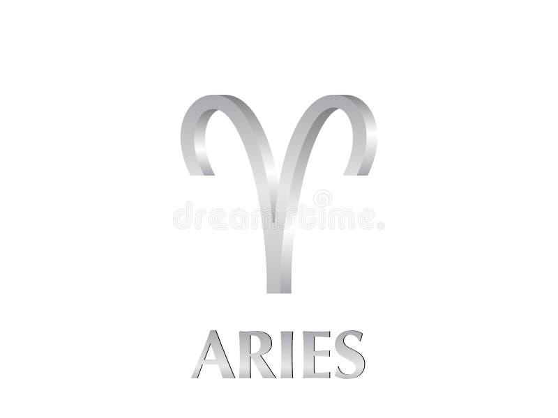 Sinal do Aries ilustração stock