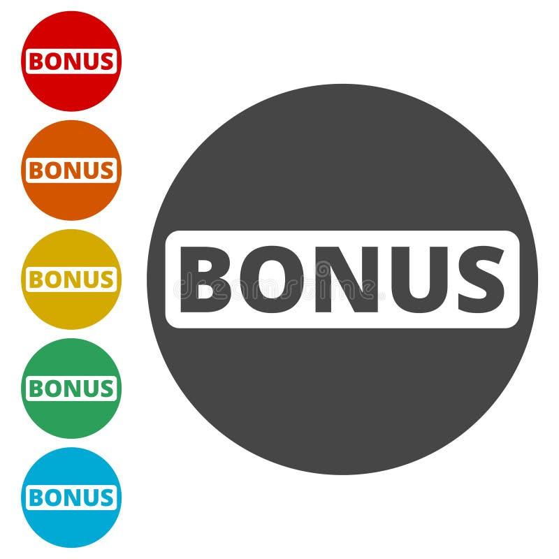 Sinal do bônus, ícone do bônus ilustração do vetor