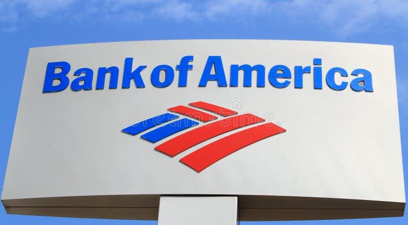 Sinal do Banco Americano foto de stock