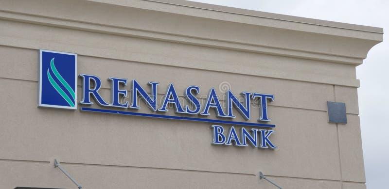 Sinal do banco de Renasant imagem de stock