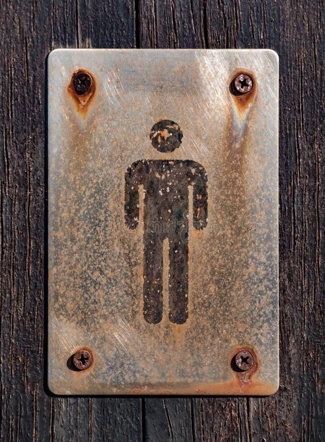 Sinal do banheiro do homem imagem de stock