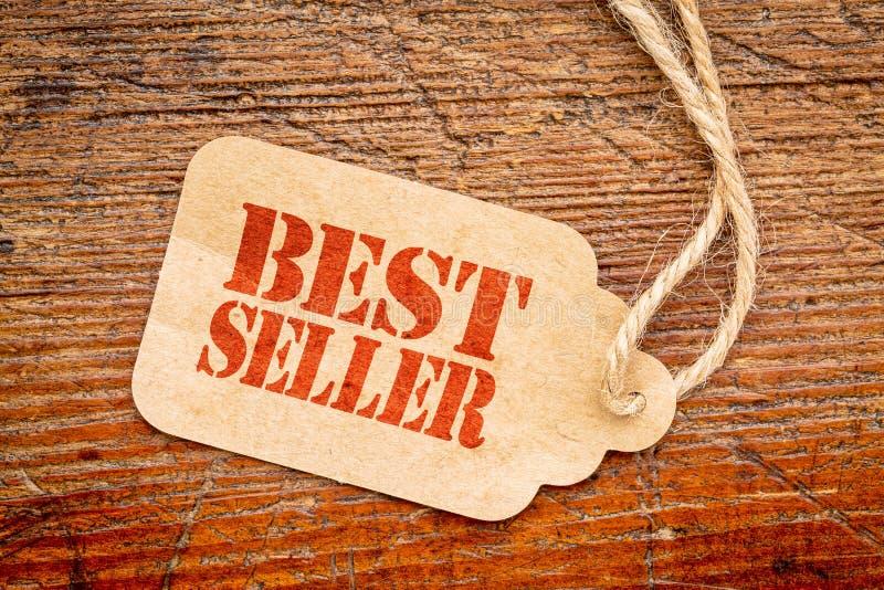 Sinal do bestseller em um preço imagens de stock