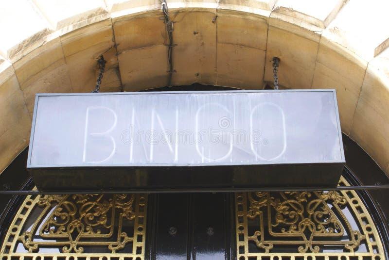Sinal do Bingo fotografia de stock