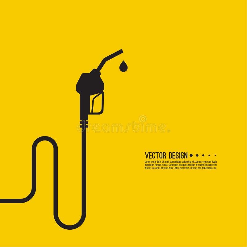 Sinal do bocal da bomba de gasolina ilustração stock