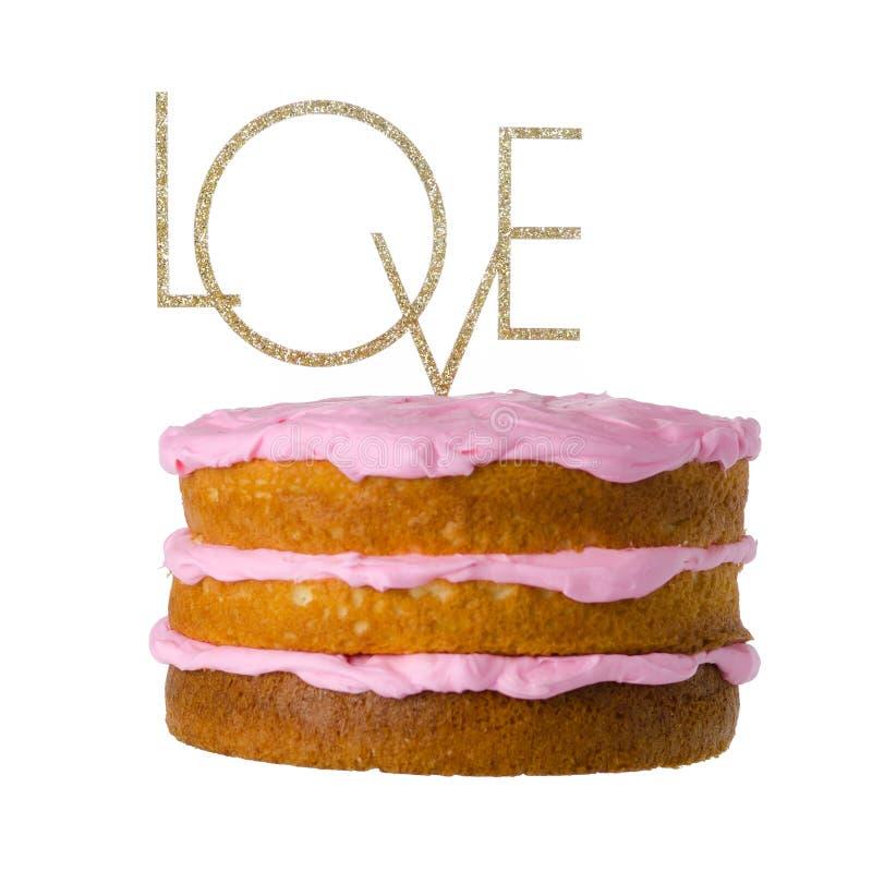 Sinal do bolo do amor imagem de stock